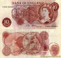 english 10 shillings note