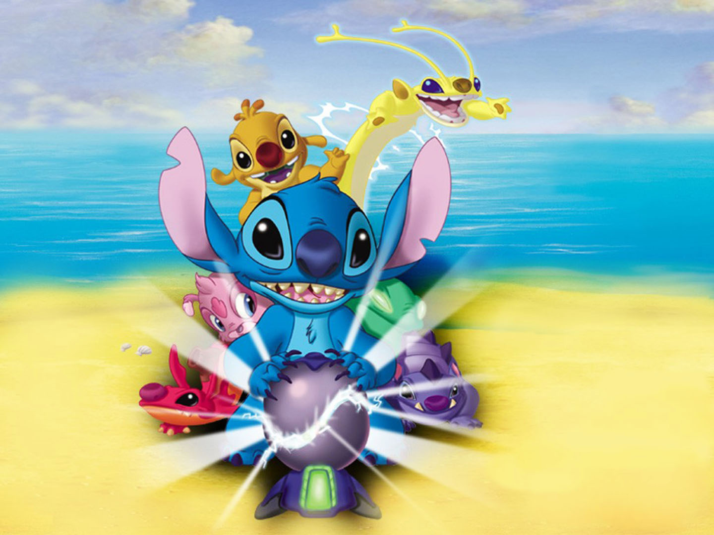 Lilo And Friends On The Beach