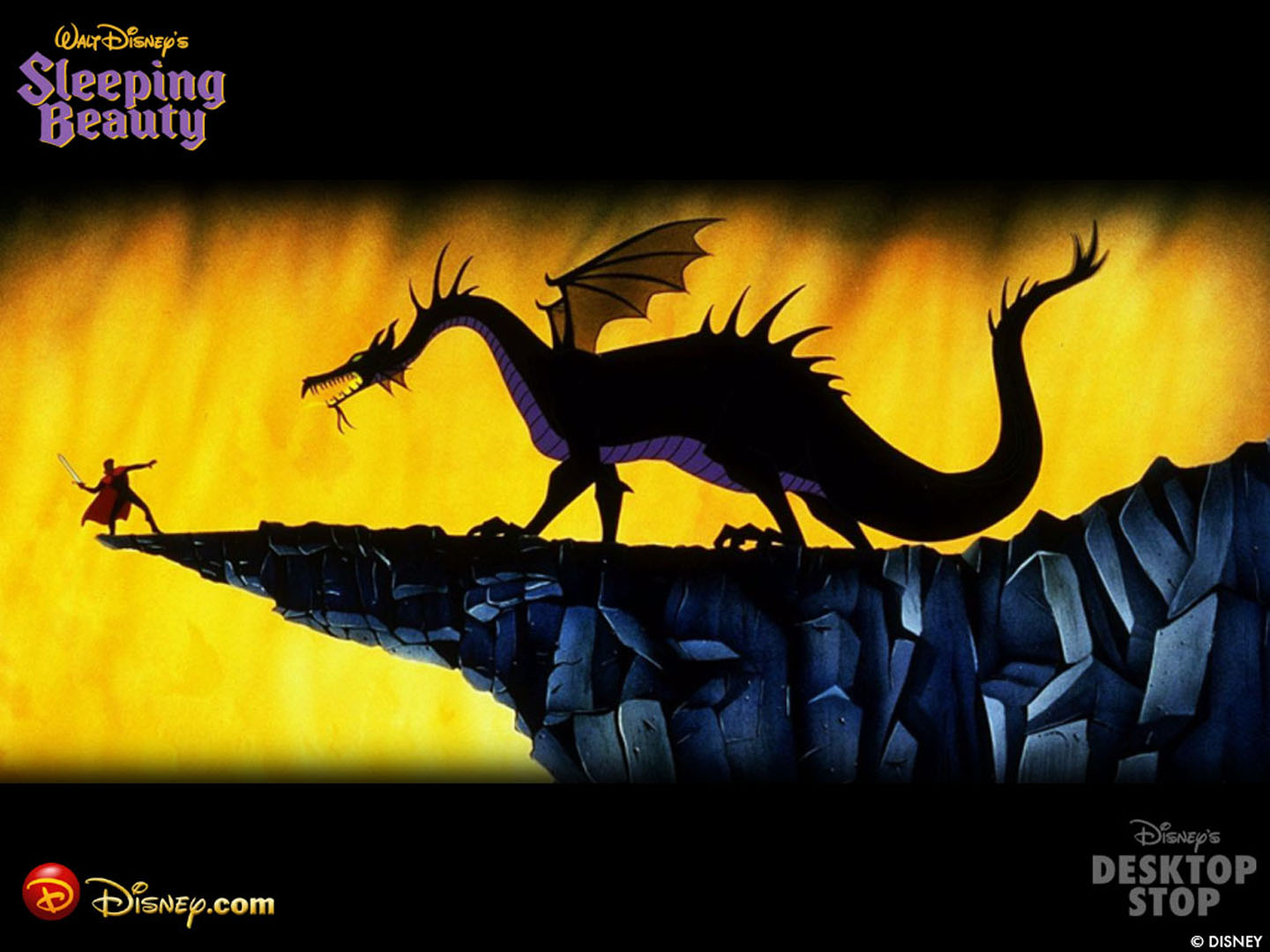 The Prince And The Dragon In Sleeping Beauty Disney Wallpaper