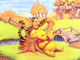 tigger and winnie the poo chilling out