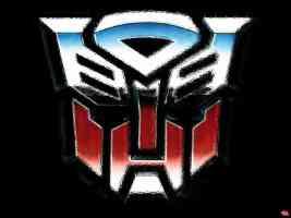 transformers autobot logo shimmer
