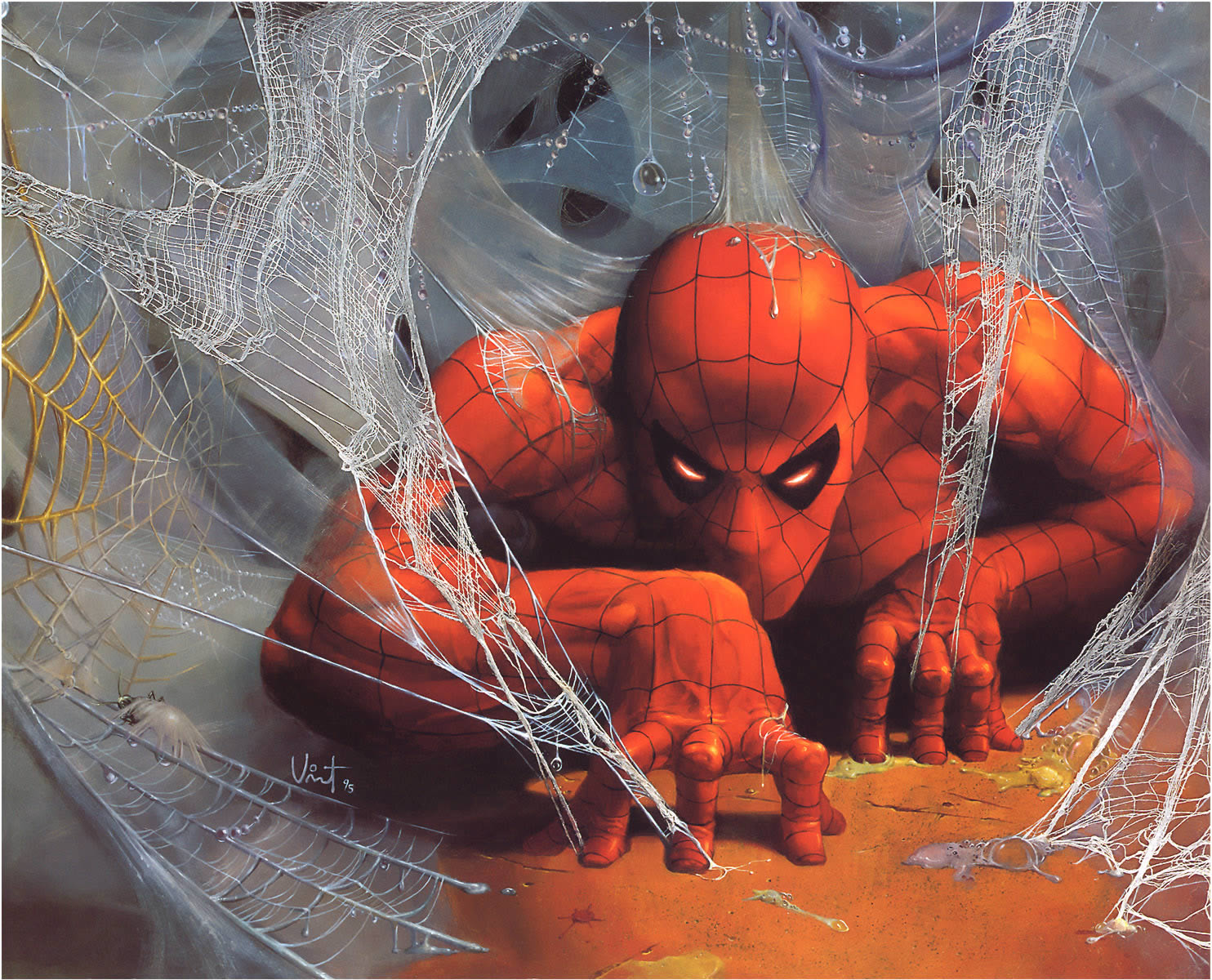 Web Of Spider Man Marvel Comic Book Wallpaper