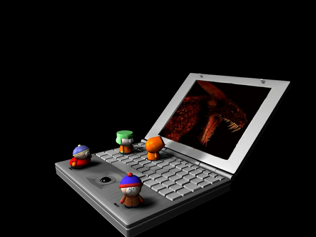 South Park Boys On A Laptop