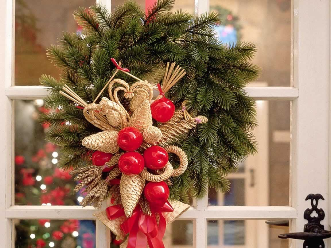 christmas wreath christmas decorations wallpaper image