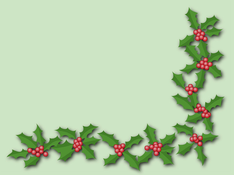 Holly Trim Christmas Decorations