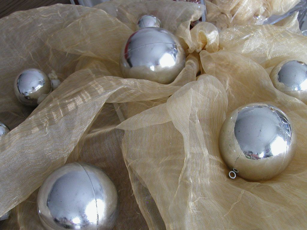 Hanging Silver Tree Baubles