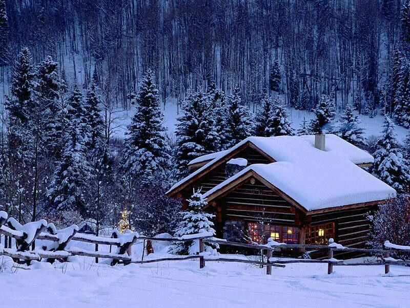 Christmas In Colorado.Christmas Chalet Colorado Christmas Landscapes