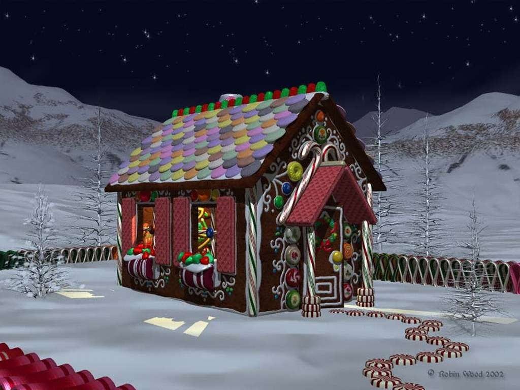 gallery for gingerbread house wallpaper