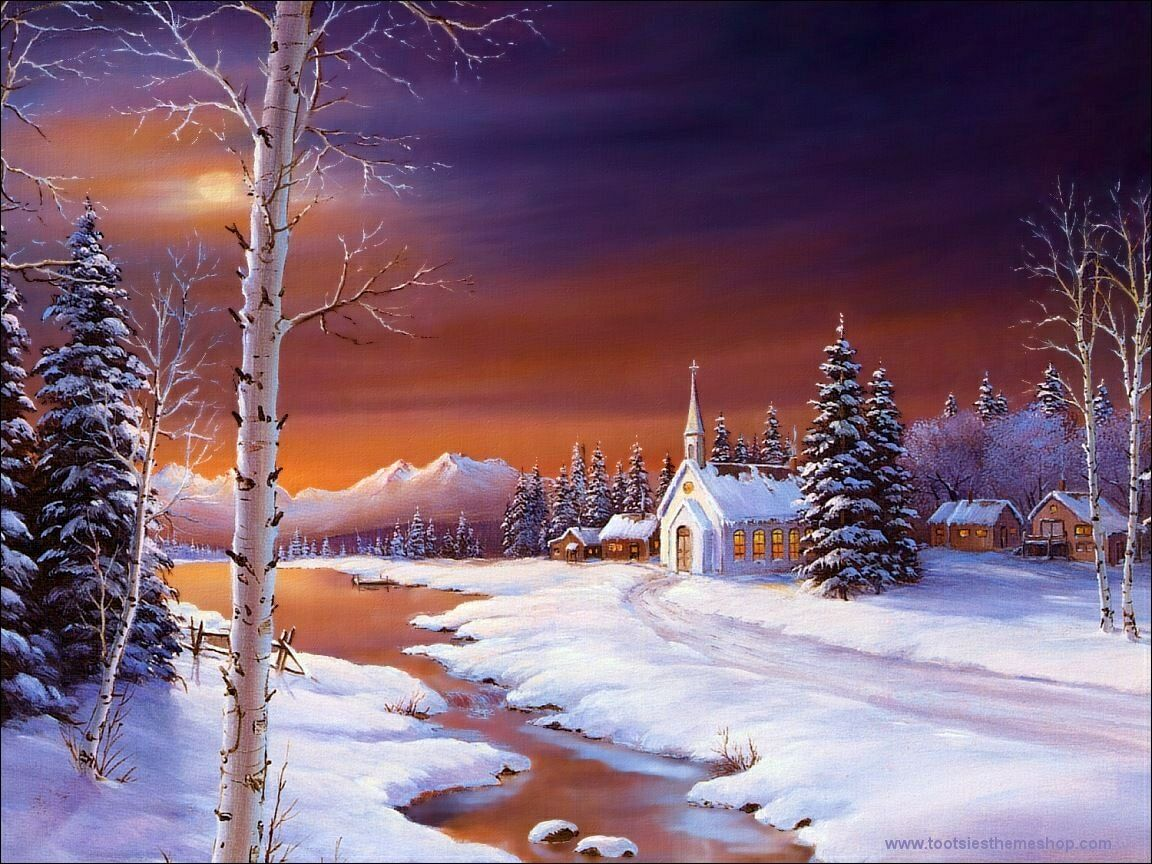 holy night christmas landscapes