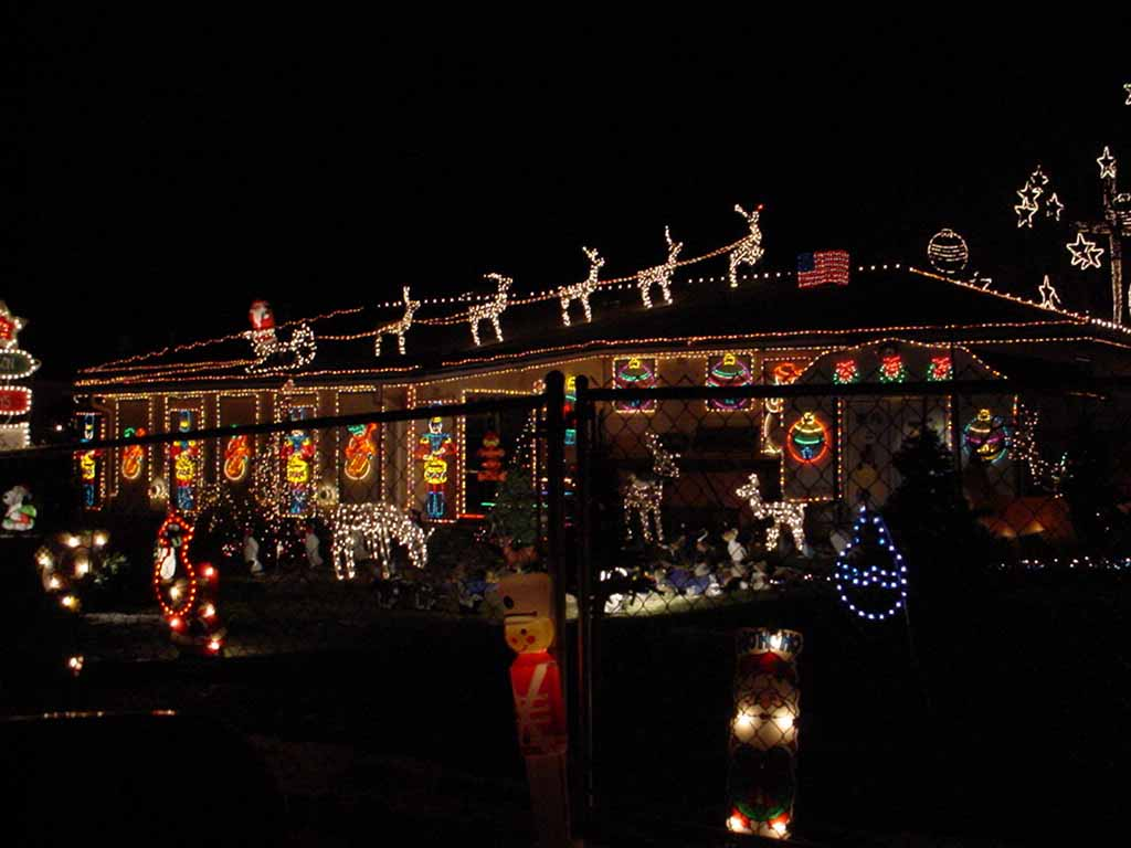 House With Xmas Lights 1