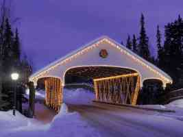 Christmas Covered Bridge Alaska