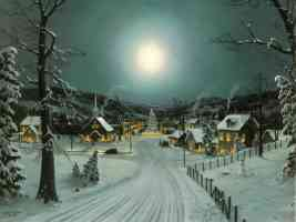 full moon at xmas