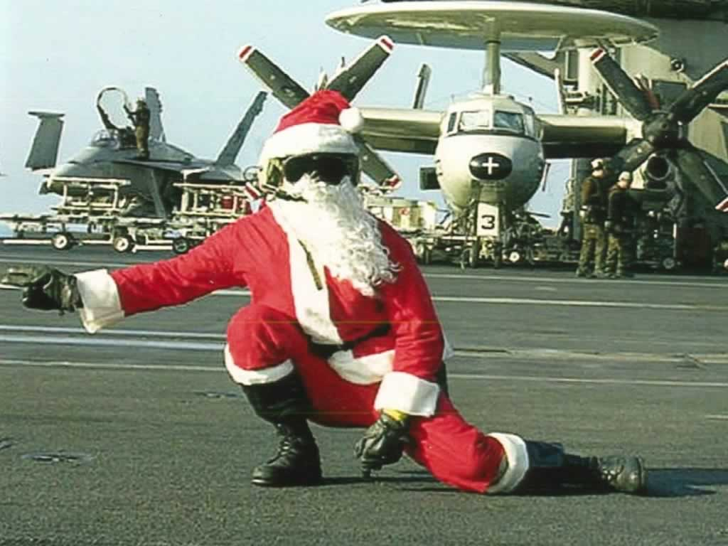 Santa On Flight Deck