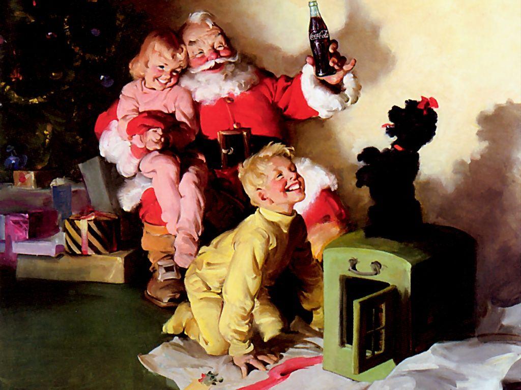 Coca Cola Santa And Performing Dog