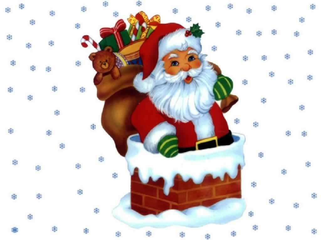 Santa Sitting On Chimney