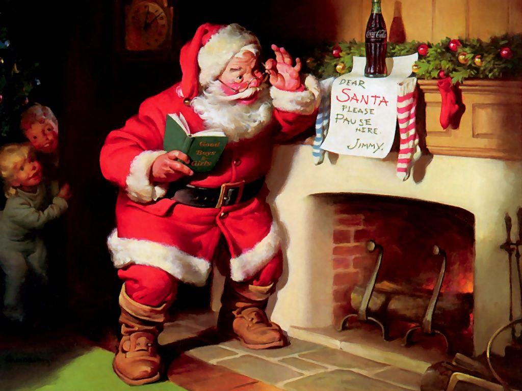 Santa With Coca Cola