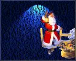 Santa holding lantern