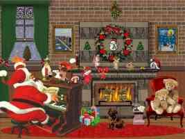 santa Taking a Break