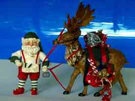 santa gnome and reindeer