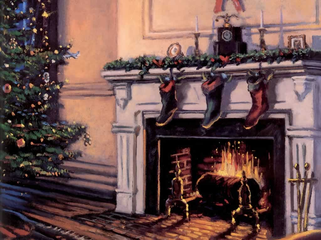 Archivoclinico Christmas Fireplace With Stockings Images