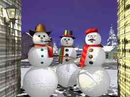 snowmen in costume