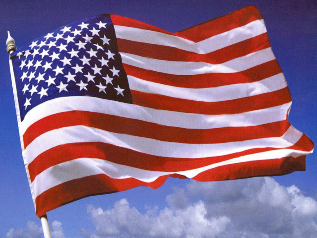 Flag Flying - USA Wallpaper