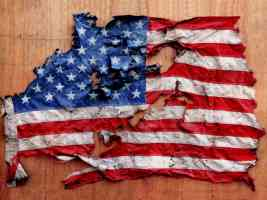 old torn flag