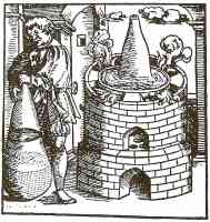 alchemist removing impurities with the bath of mary