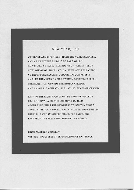 1903 New Year Message