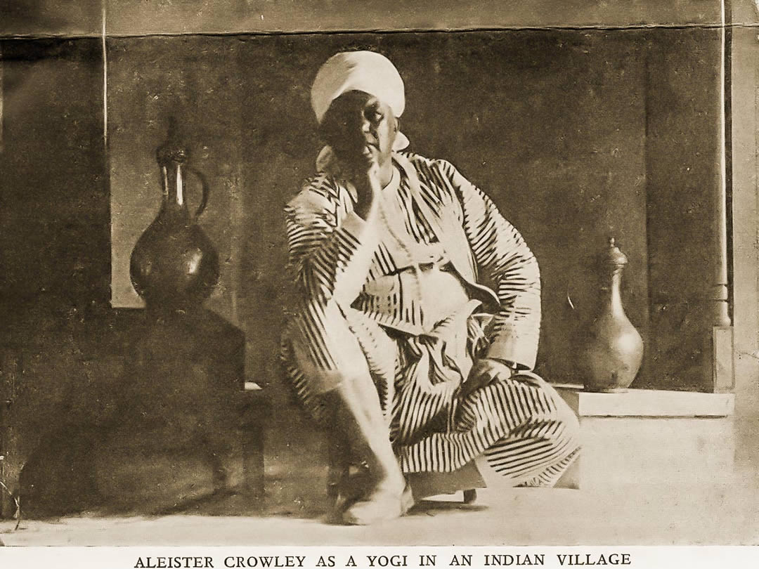 Dressed As Indian Yogi