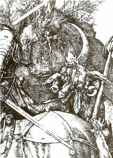 Esoteric Wallpaper: Durer Engraving Of Knight Death And The Devil