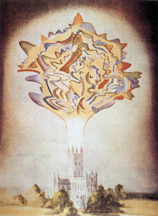 Esoteric Wallpaper: Leadbeater Picture Of Organ Music On The Astral Plane