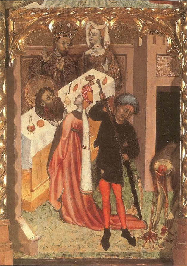 Salome Giving The Head Of John The Baptist To Herod