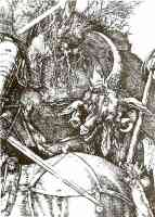 durer engraving of knight death and the devil