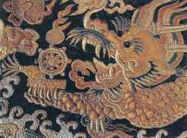 embroidered chinese dragon
