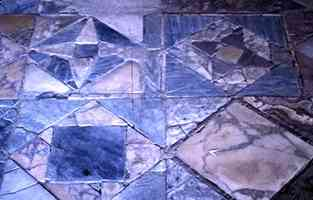 geometric pavement at herculaneum