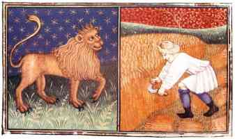15th century illustration of leo the lion