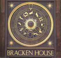 zodiacal clock at bracken house london