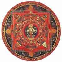 avalokiteshvara in nepalese mandala