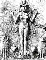 assyrian demon lilith on bas relief
