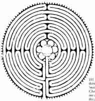 13th century drawing with maze pattern