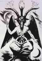baphomet with pentagram on forehead