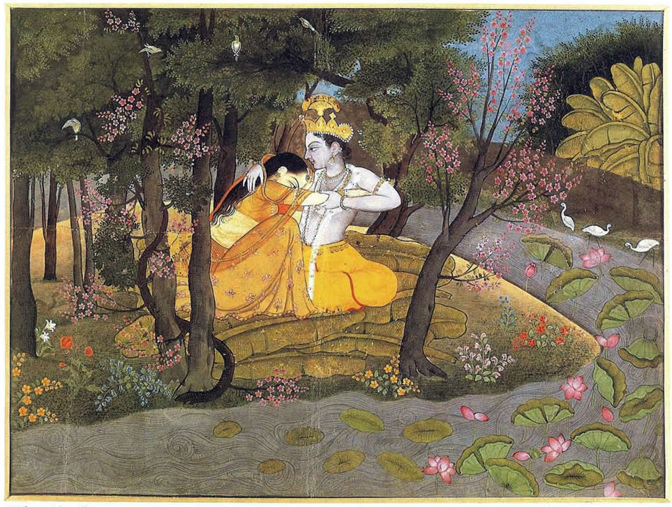 Krishna And Radha In The Forest
