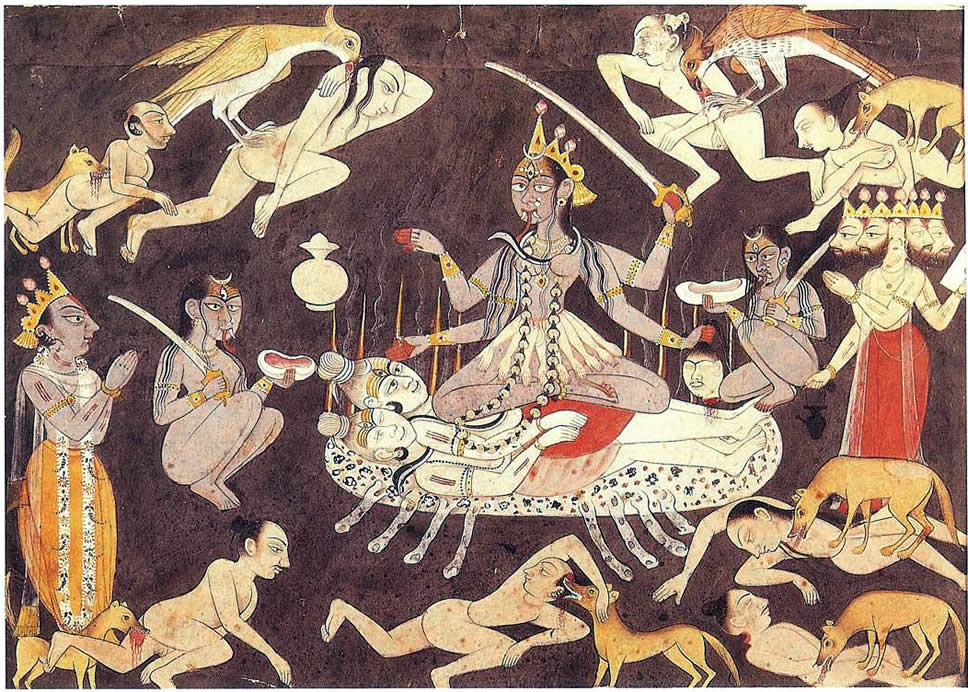 The Hindu Gods Kali Shiva And Brahma