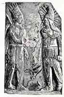 bas relief of king antiochus and mithra