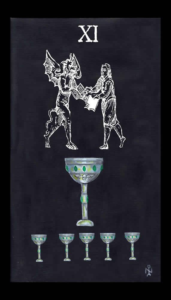 Esoteric Wallpaper: Luciferian Tarot Cards Wallpaper