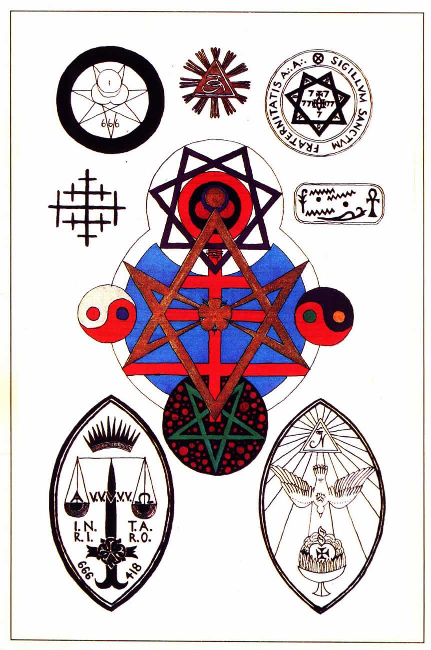 Esoteric Wallpaper: Eight Crowley Sigils