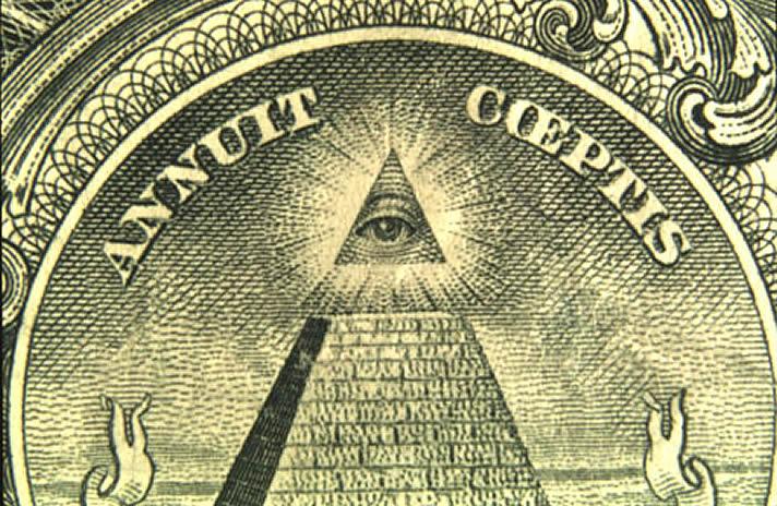 Eye On Pyramid Of Dollar Bill