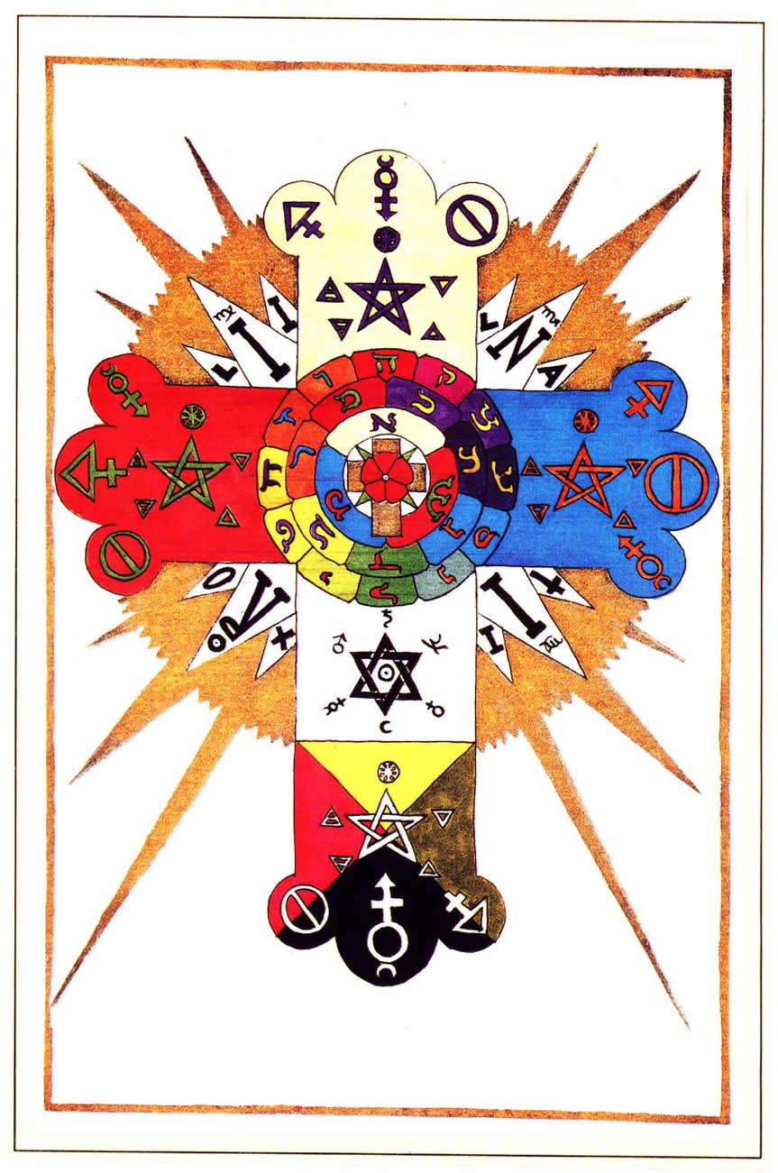 Golden Dawn Symbol Of The Rose And Cross