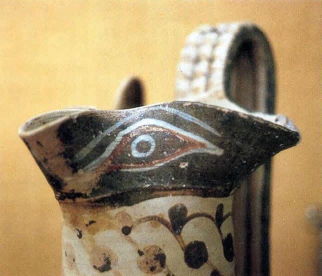 Magical Eye Near The Spout Of Ancient Greek Jug